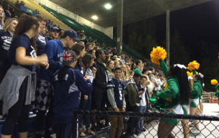Photo: Skyview fans cheer Seattle's Roosevelt High School