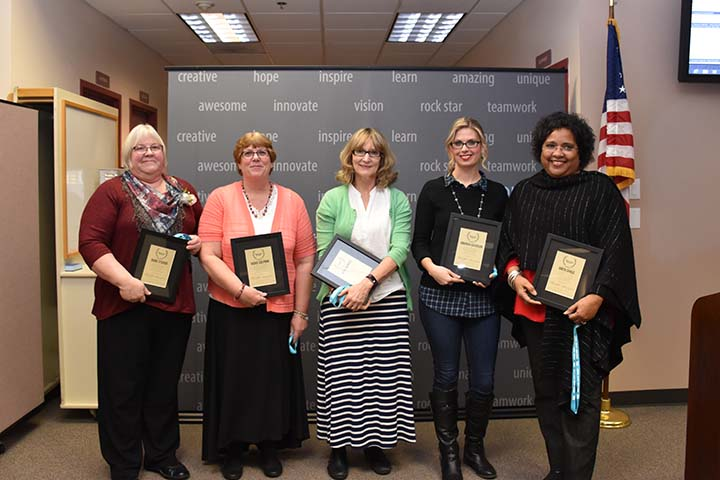Photo of Excellence Award winners for November 2017